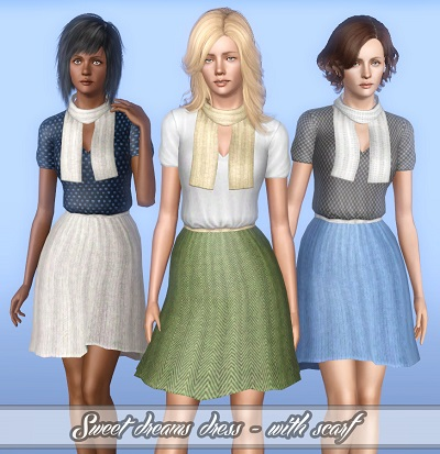 My Sims 3 Blog: Sweet dreams dress - 2 different styles for YA/A by ...