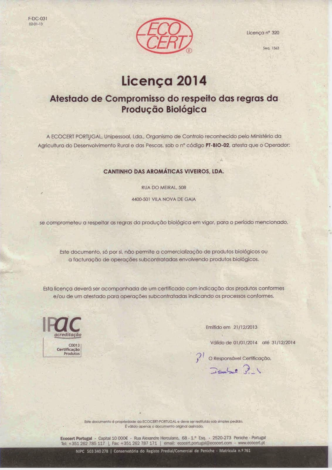 Licença 2014