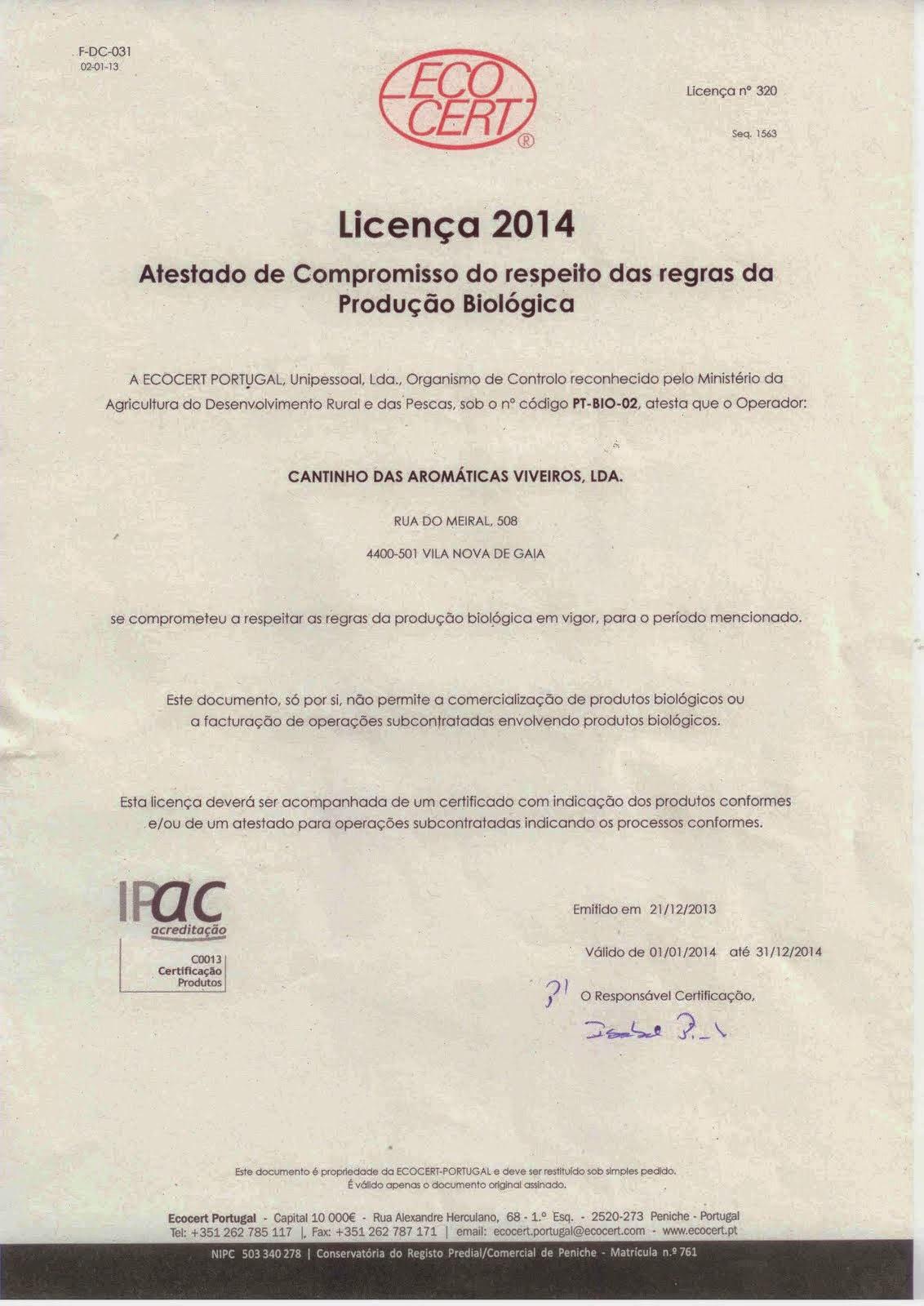 Licença 2014