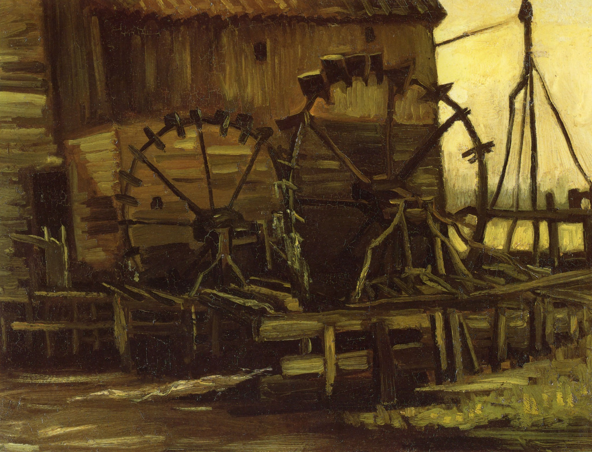 Water Mill at Gennep by Vincent van Gogh (F 46, JH 524)