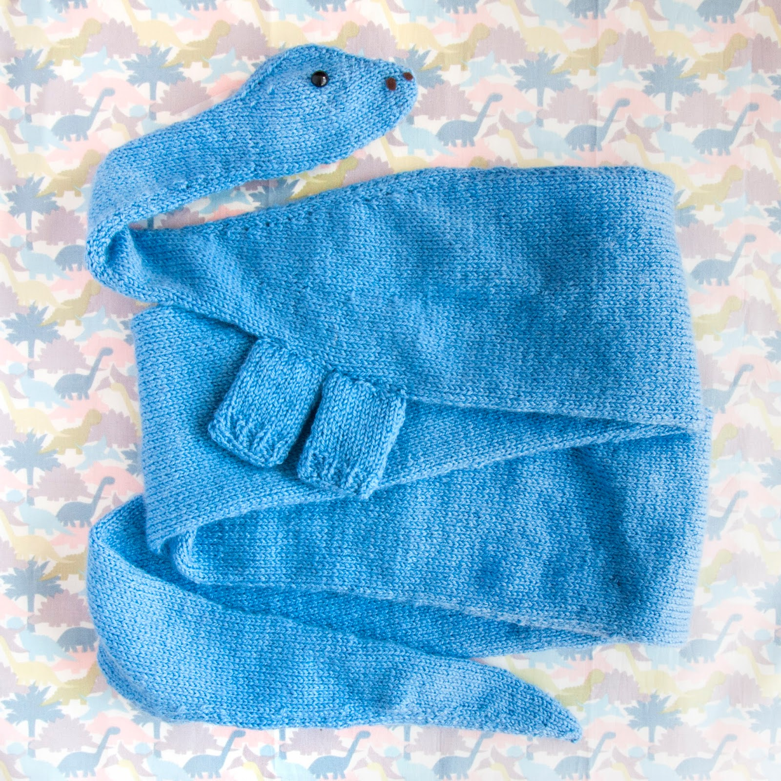 Dinosaur Scarf Knitting Pattern : Diplodocus Scarf Pattern - Free Until June 30th! SINCERELY LOUISE