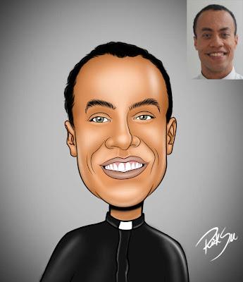 desenho cartoon de padre, papa