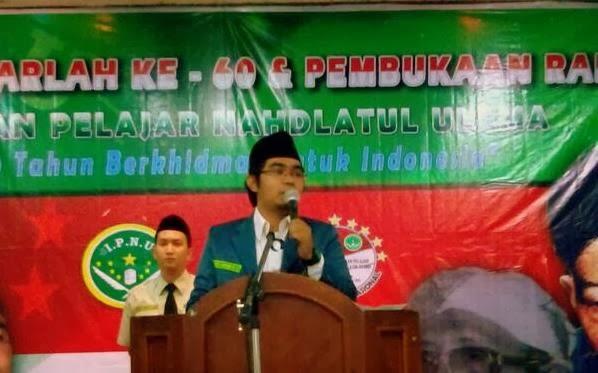 Ketua Umum Pimpinan Pusat Ikatan Pelajar Nahdlatul Ulama (IPNU) Khaerul Anam Hs