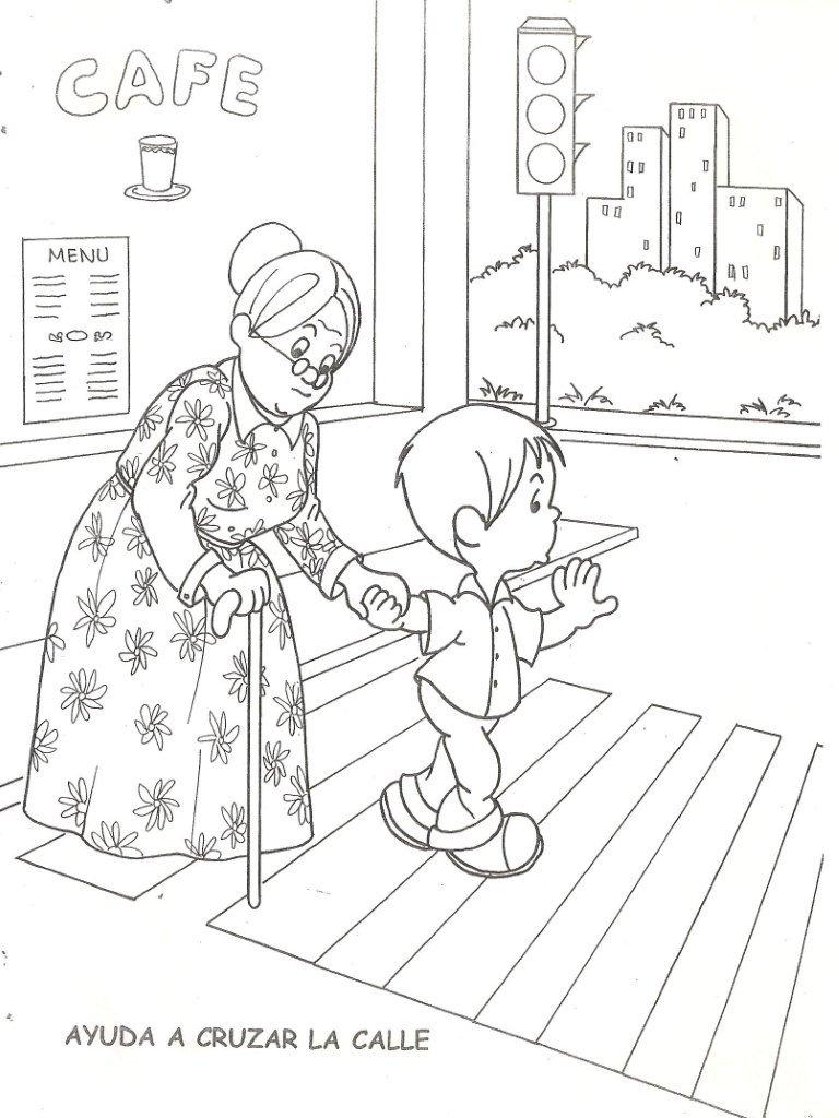 Dibujos Para Colorear De Un Nino Ayudando