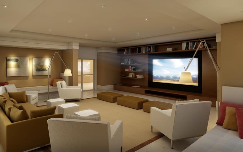 Sala De Tv Com Projetor ~ Qualidade de som do home theater depende de uma boa acústica  Studio