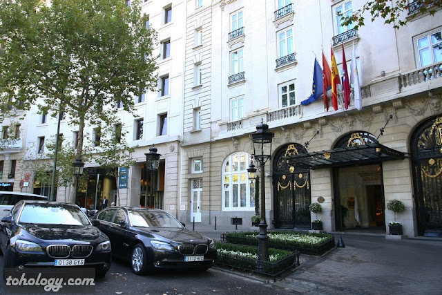 Hotel Ritz Madrid, the main entrance, главный вход