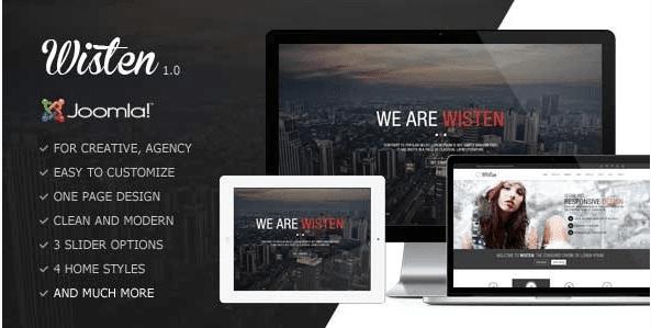 Wisten - One Page Parallax Joomla Templatea