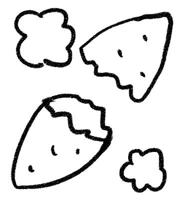 焼き芋のイラスト モノクロ線画