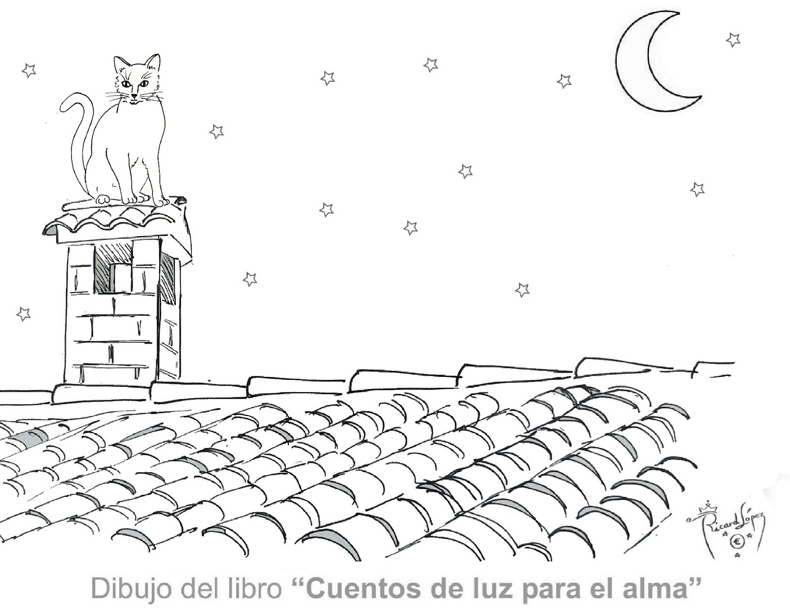 How to draw gato tejado - Dibujos de tejados ...