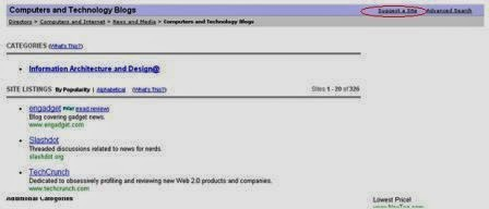 Yahoo directory sub categori
