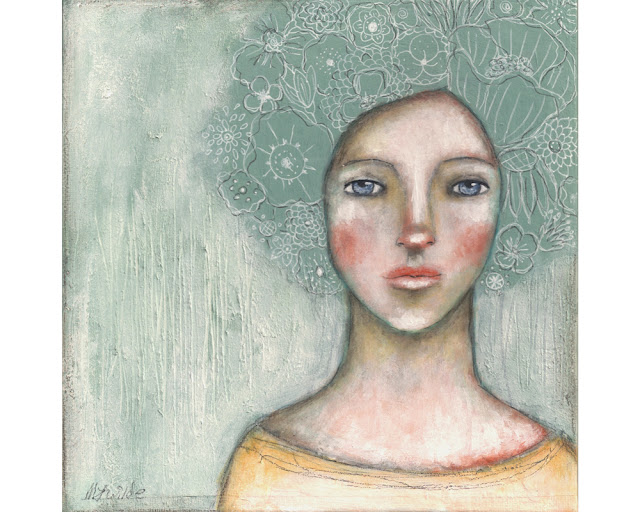 whimsical folk art painting by Micki Wilde
