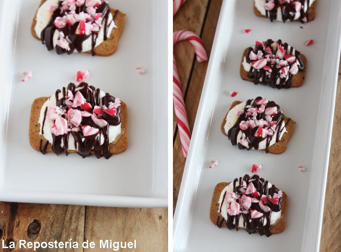 2 Imagenes forman parte de esta fotografía, diferentes perspectivas de las galletas en la bandeja.