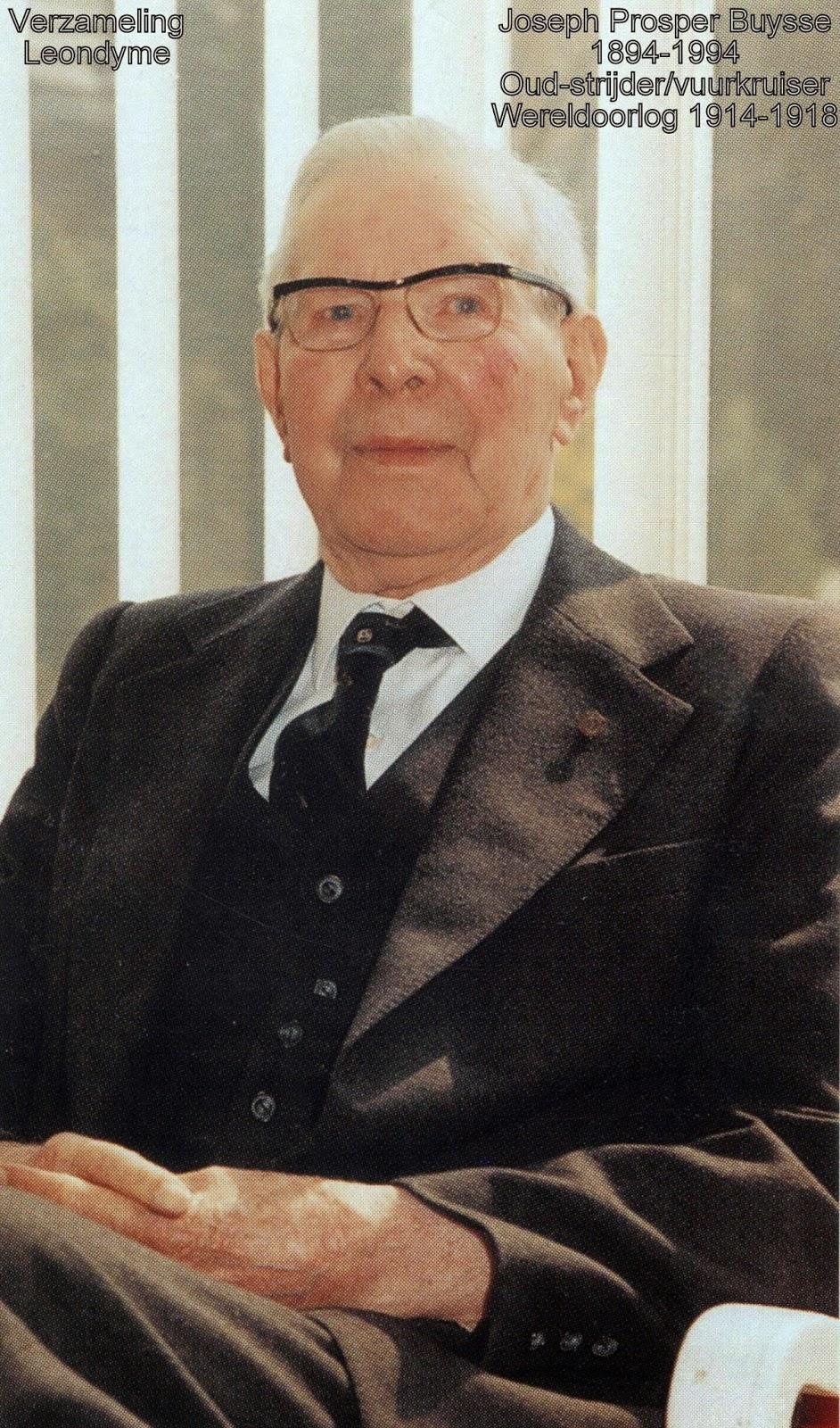 Buysse Joseph Prosper 1894-1994. Bidprentje