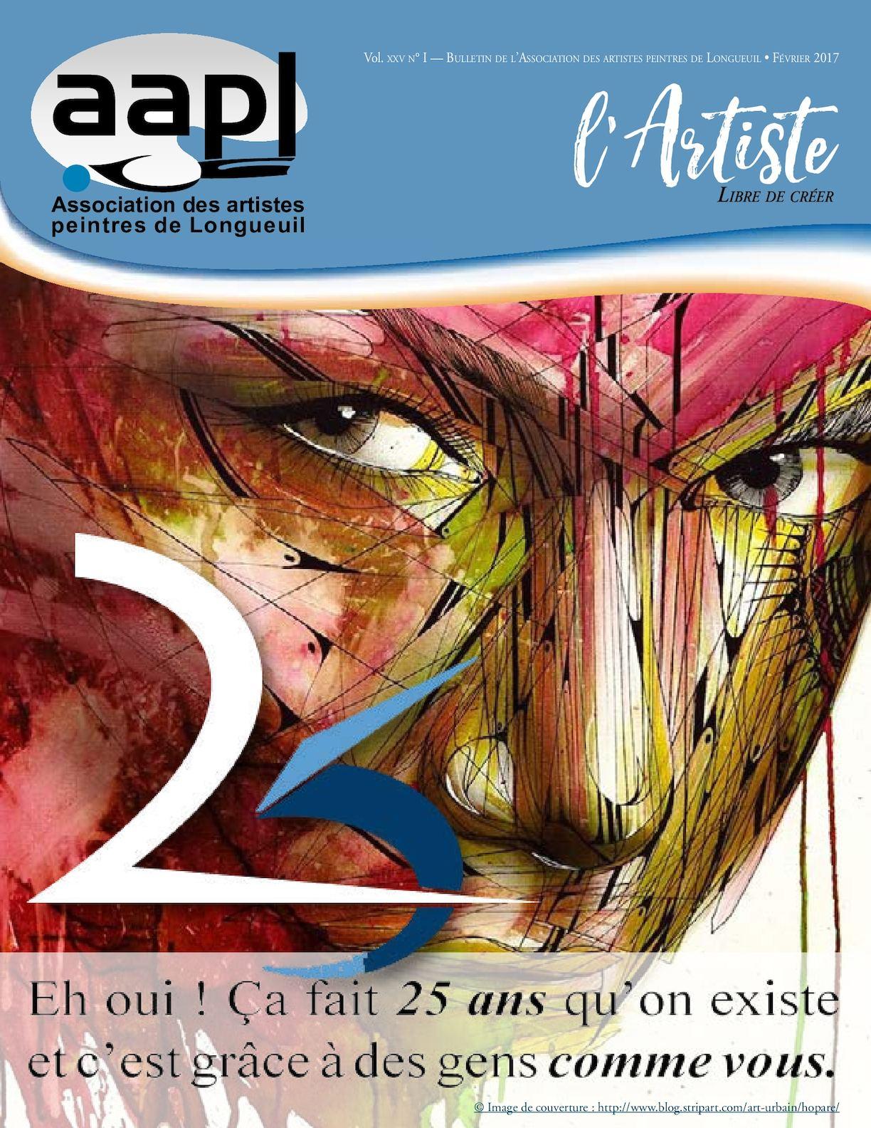 VOTRE JOURNAL L'ARTISTE (Cliquez sur l'image pour visualiser le tout).