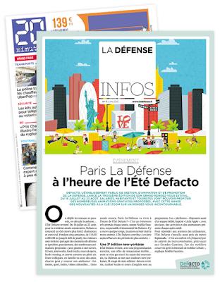 Clod illustration Été Defacto Paris, La Défense 2015