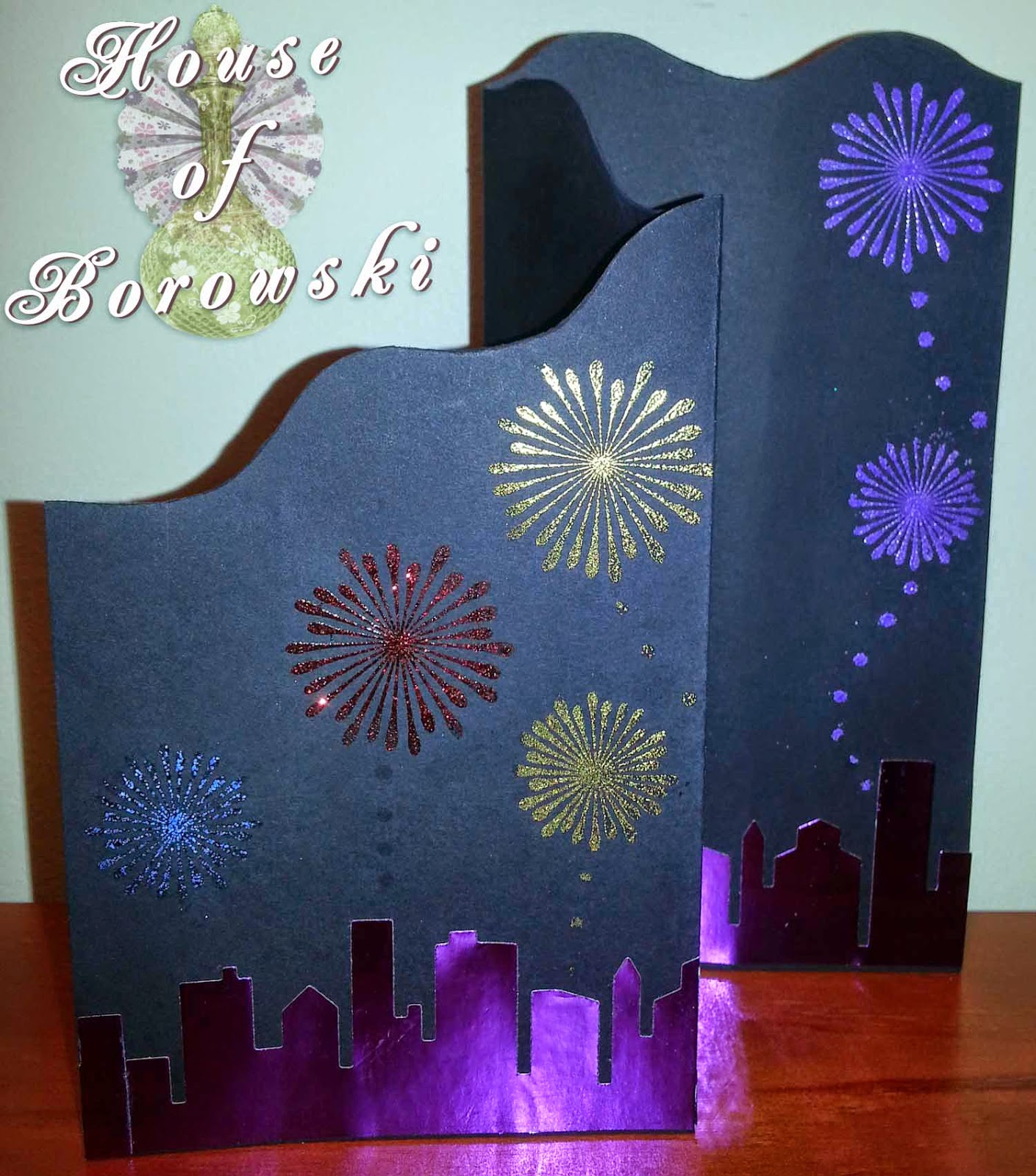 House of Borowski,memory box cityscape silhouette, Cuttlebug, allison ellis design, judikins, Gina K Design Stamp, DCWR,