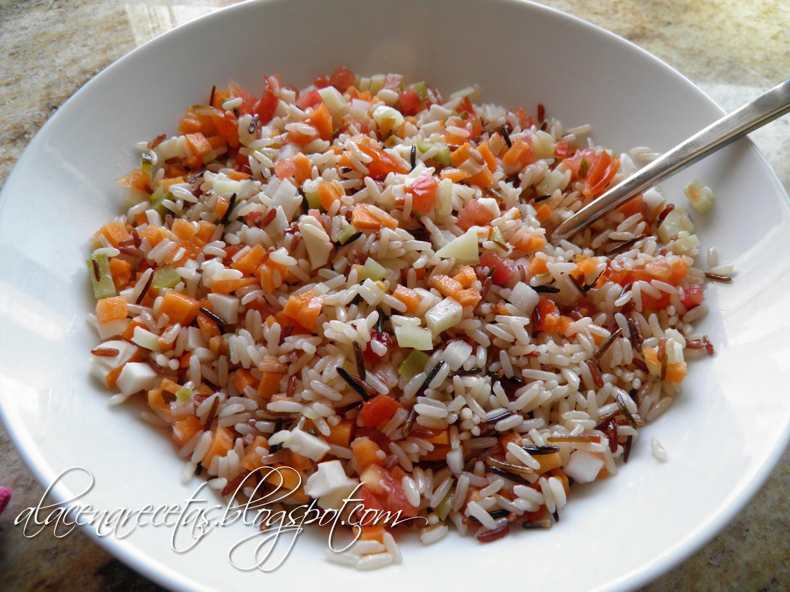 La alacena ensalada de arroz chuu chuu - Ensalada de arroz light ...