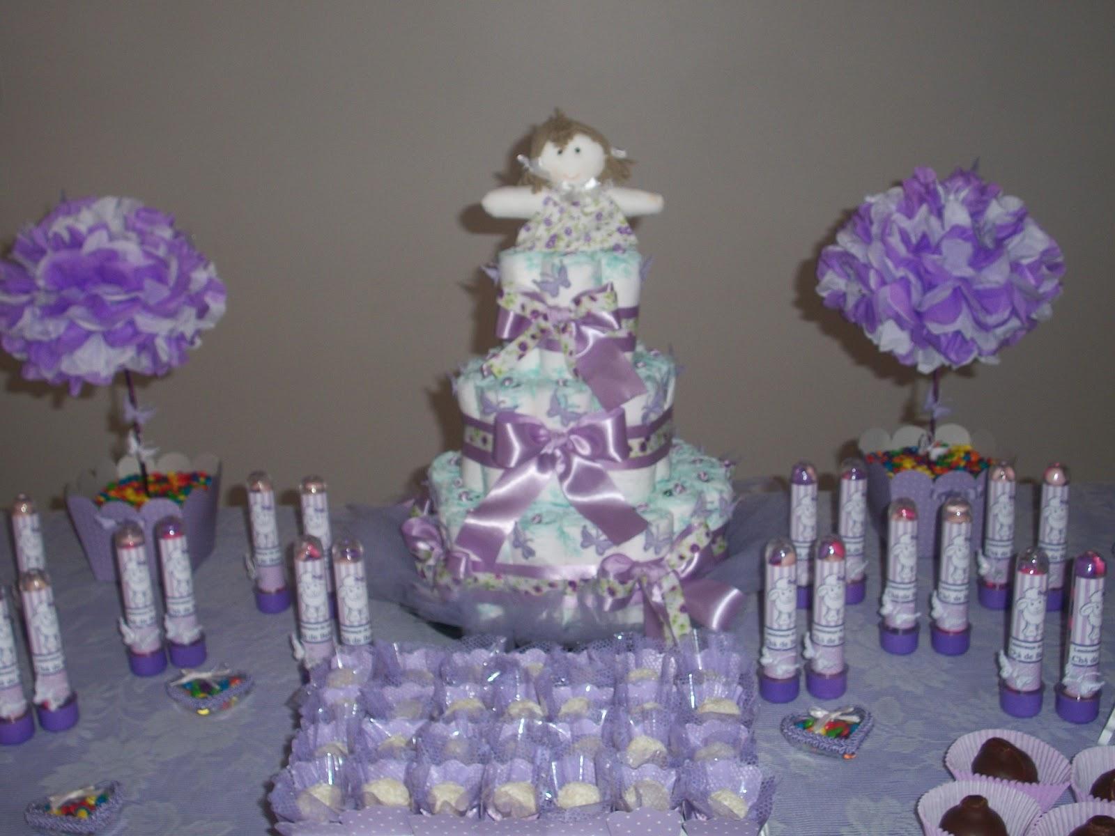 Brandy Produções Visuais  Chá de Bebê Boneca de Pano Lilás