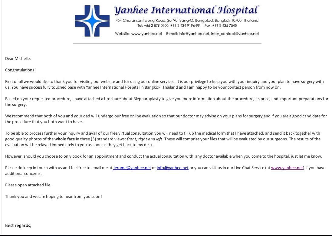 short cover letter via email