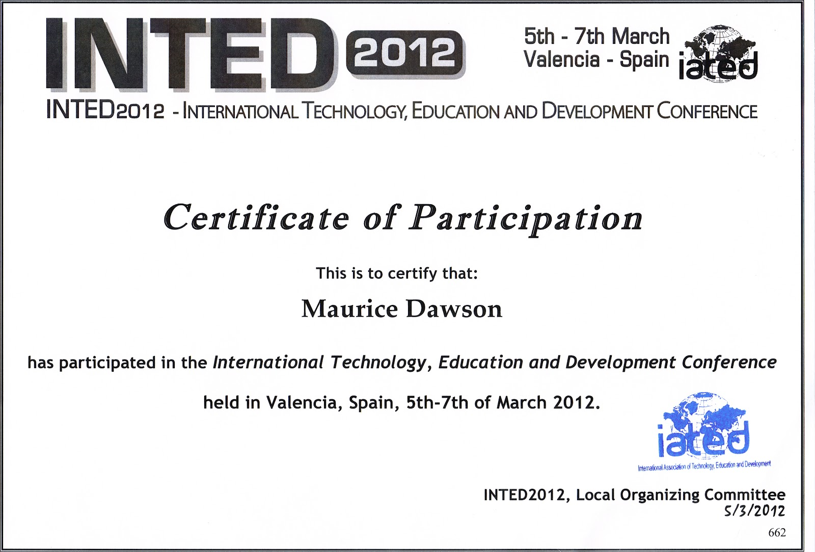 Nice Conference Certificate Of Attendance Template Pictures