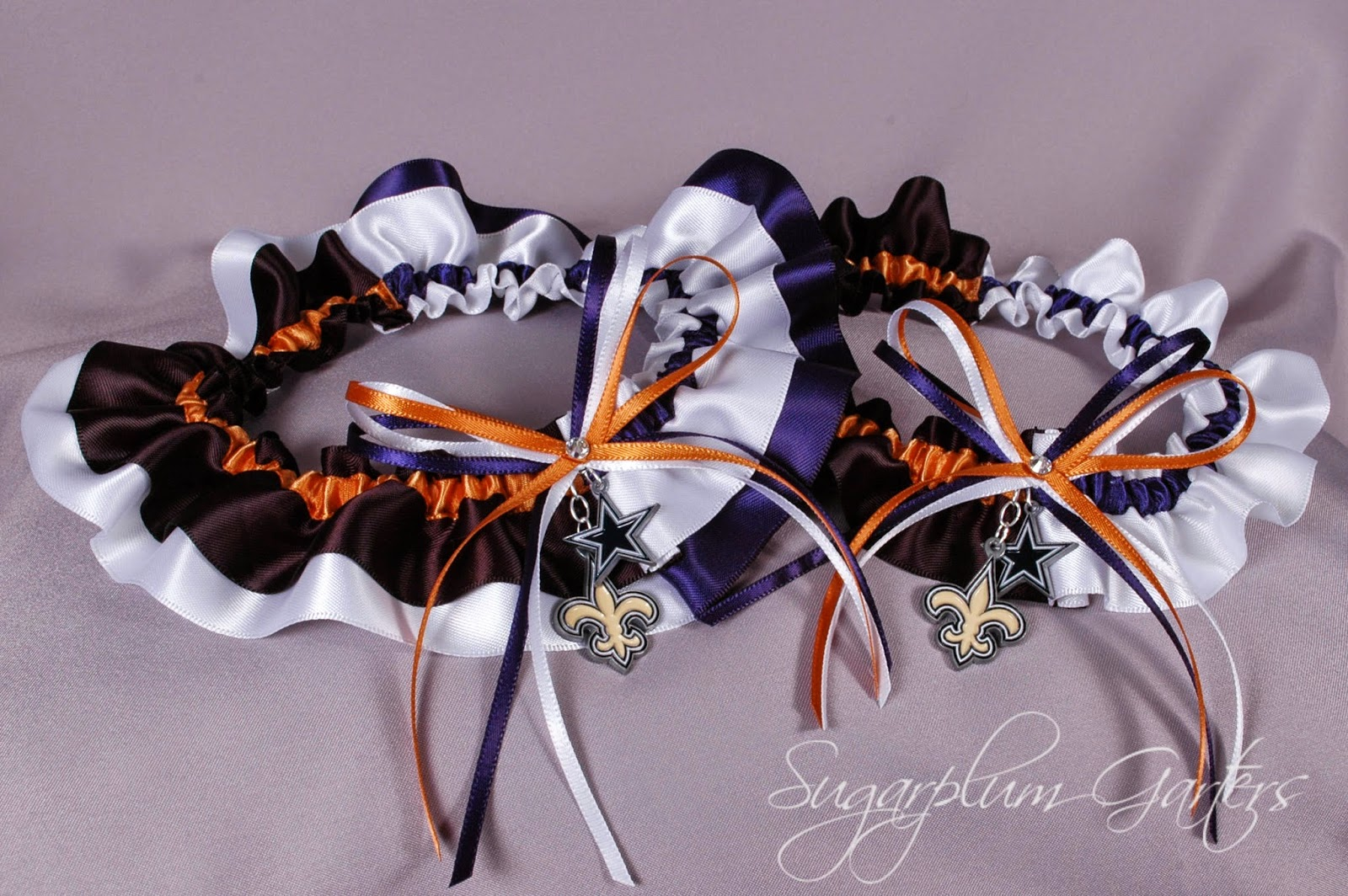 Custom NFL House Divided Garter Set by Sugarplum Garters