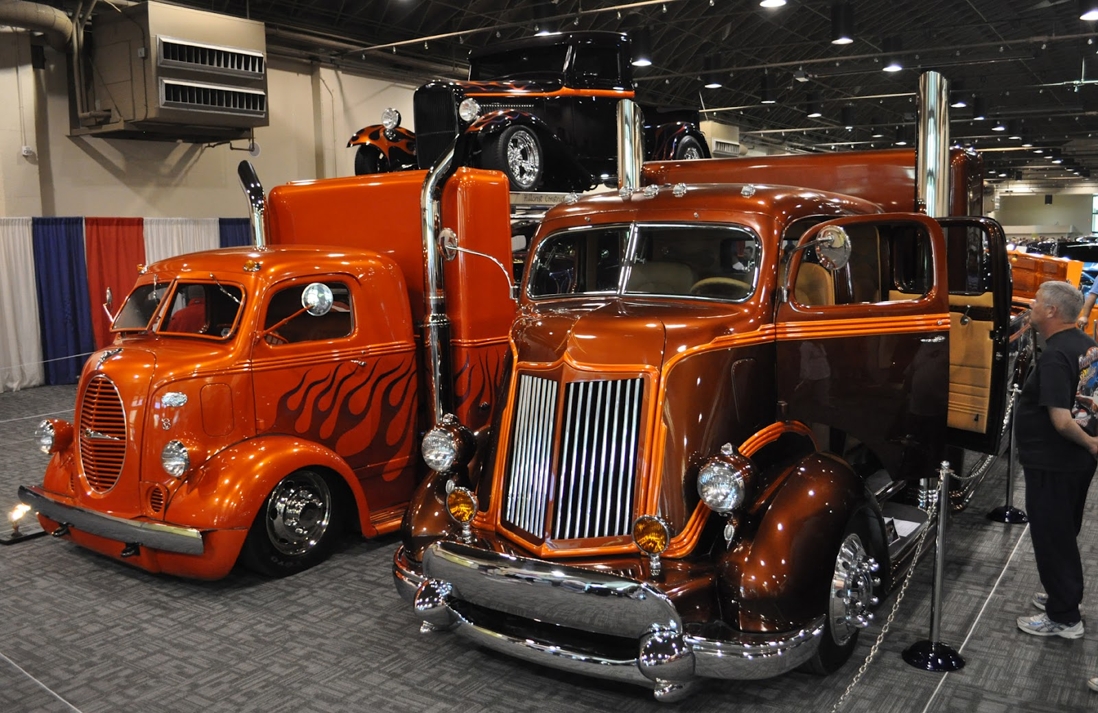 Just A Car Guy : The cool hot rod haulers were teamed up in a display