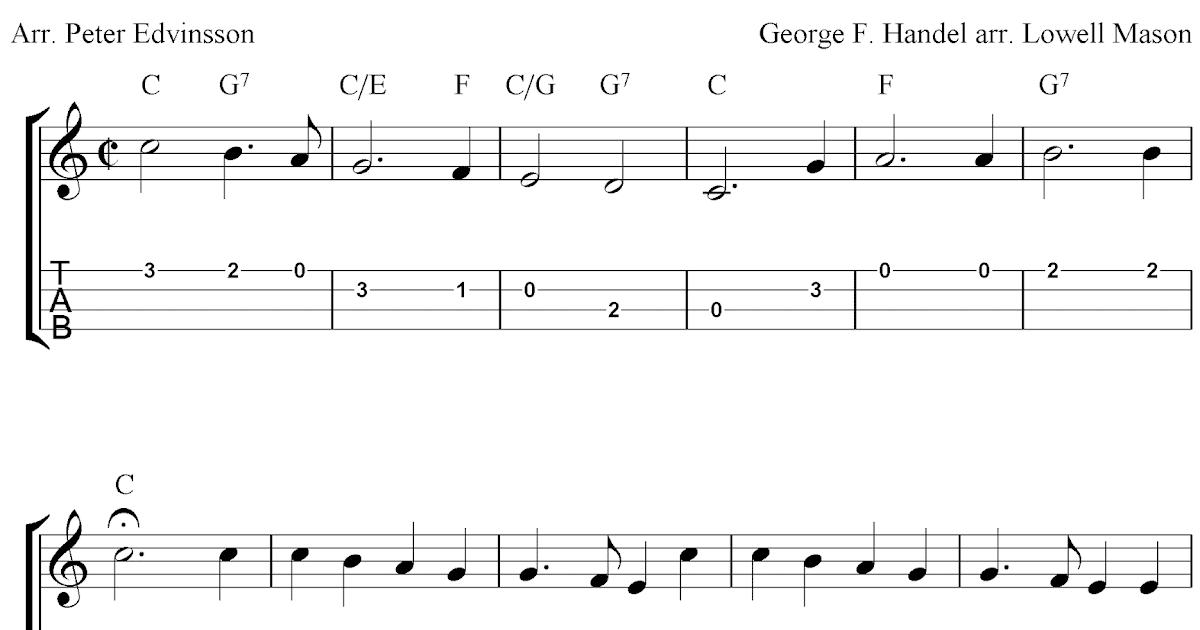 Joy To The World, free Christmas ukulele tab sheet music