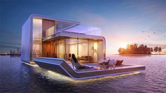 """biệt thự """"nửa nổi nửa chìm"""" ở Dubai"""
