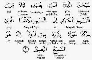 Ayat tentang Isra'