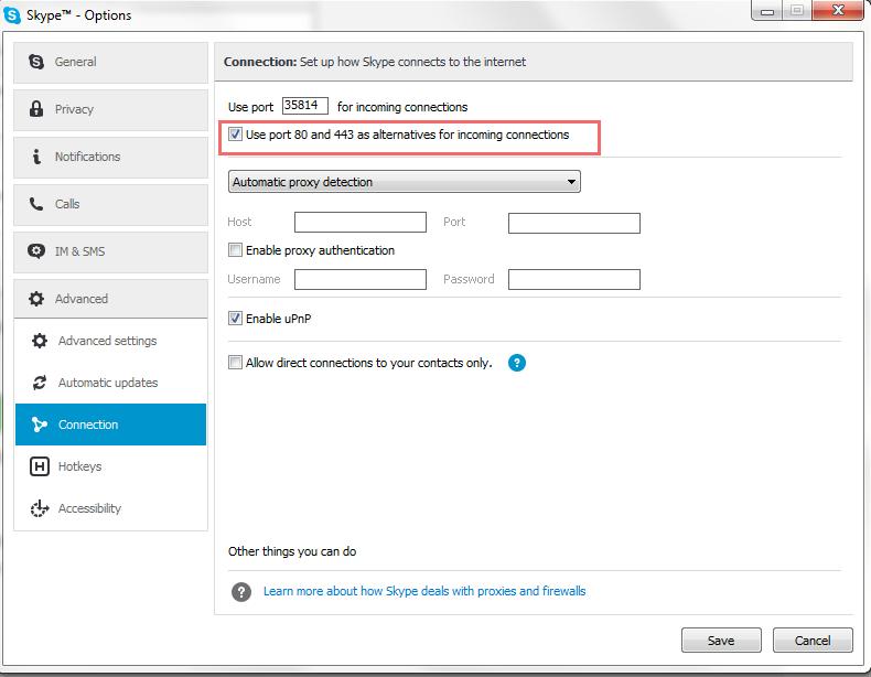 Wamp Skype Conflict