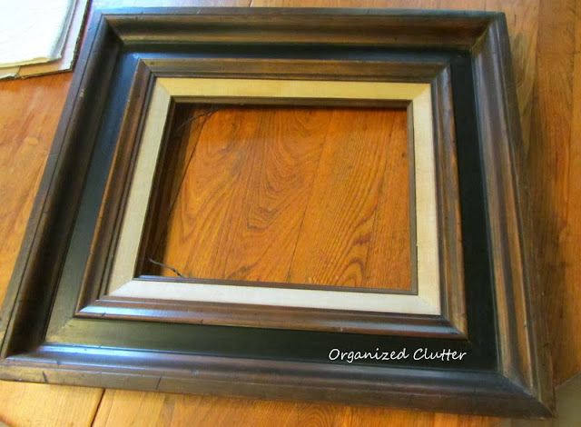A Consignment Shop Frame & Photo Mounting Corners www.organizedclutterqueen.blogspot.com