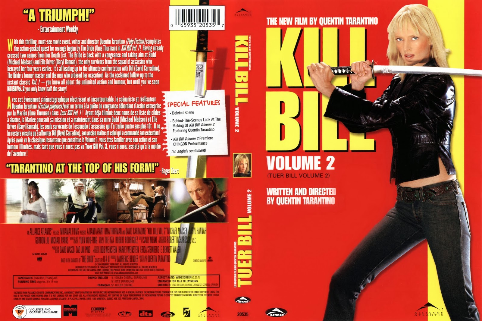 Kill Bill Volumen 2 DVD