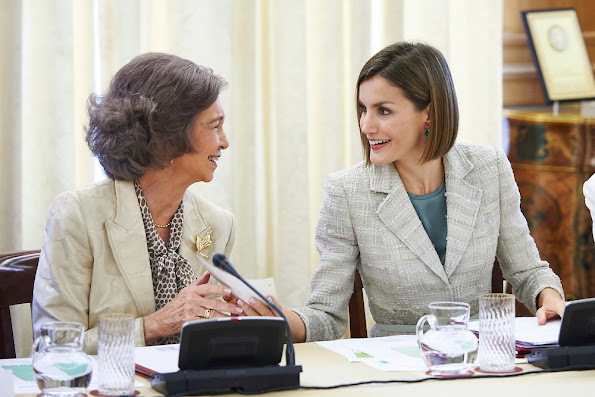 Queen Letizia and Queen Sofia attend a meeting with members of foundation against drugs, the FAd Fundacion Ayuda contra la Drogadiccion