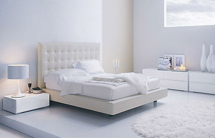 Modern home interior design adjustments white modern for Bedroom ideas with white furniture