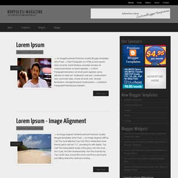 Bortulesi Magazine blog template. template image slider blog. magazine blogger template style. wordpress them to blogger template