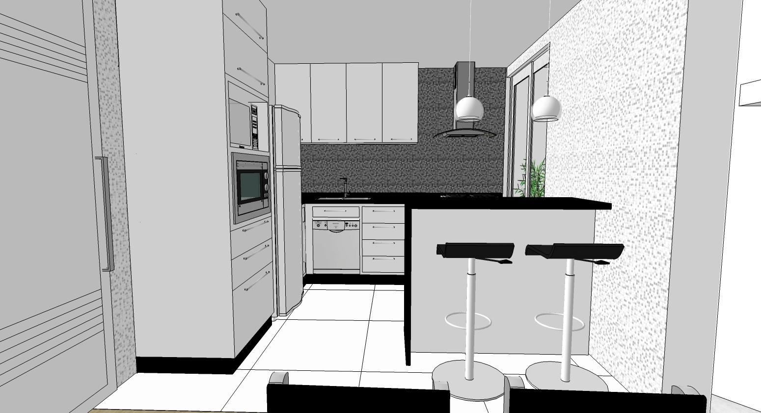 cozinha americana verde ubatuba #497043 1550 842