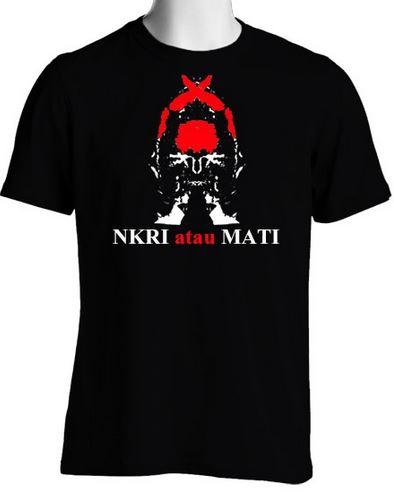 Kaos NKRI Cotton Combed 30s Rp 75K