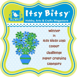 I am a Winner in the Itsy Bitsy Color Logo Challenge! :-)