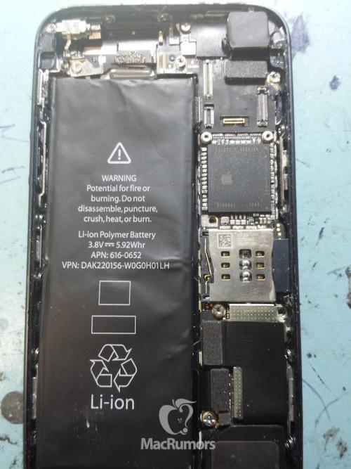 Trapelata la prima immagine dei componenti interni del prossimo iPhone 5S; hardware potenziato e stesso design dell'iPhone 5?