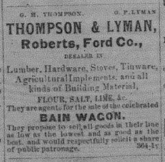 Thompson & Lyman 1873 Ad