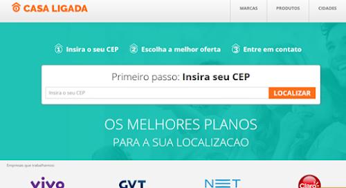 Dinâmico e diferenciado, site Casa Ligada ajuda usuários a escolher melhores marcas e planos de acordo com necessidade