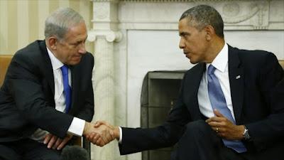 Benyamin Netanyahu, primer ministro israelí (izqda), y el presidente de EE.UU., Barack Obama (decha).