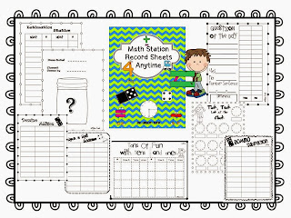 http://www.teacherspayteachers.com/Product/Math-Station-Record-Sheets-995292