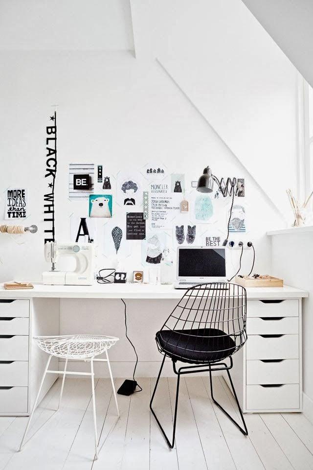 Minty fox blog desk inspiration pinterest for Home office ideeen