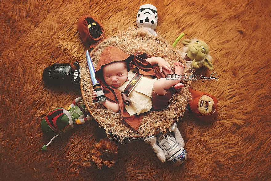 #17 Baby Luke Skywalker - 22 Geeky Newborns Who Are Following In Their Parents' Nerdy Footsteps