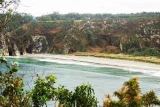 Vista de la playa de Barayo desde la senda