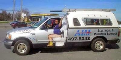 http://www.funnysigns.net/aim-plumbing-truck/