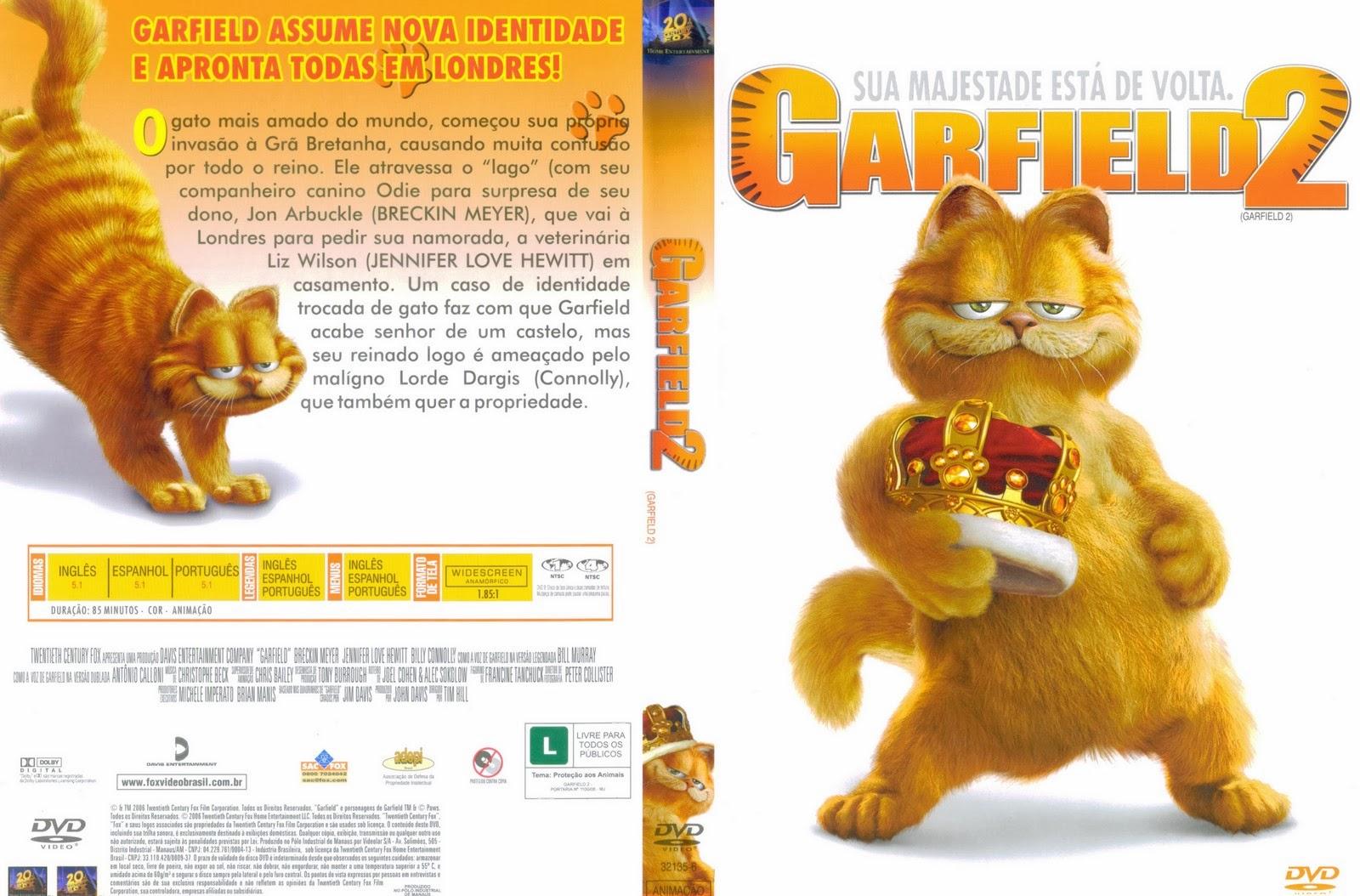 Garfield 2 DVD Capa