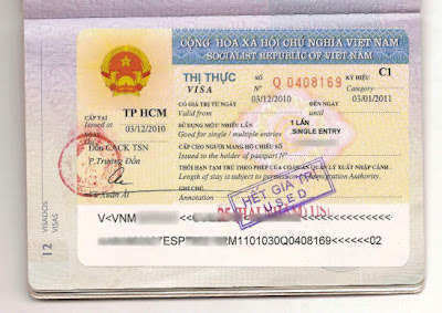 Visa at the Embassy of Vietnam