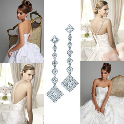 Bridesmaid hairstyles 2013 wedding theme a z d is for for Wedding dresses with pearls and diamonds